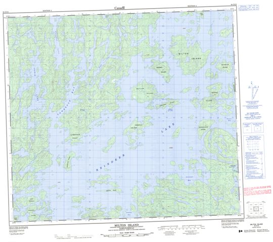Milton Island Topographic Paper Map 064D10 at 1:50,000 scale