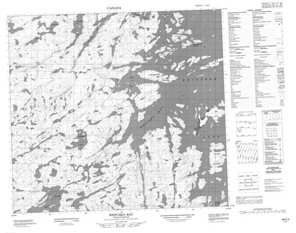 Wepusko Bay Topographic Paper Map 064E02 at 1:50,000 scale