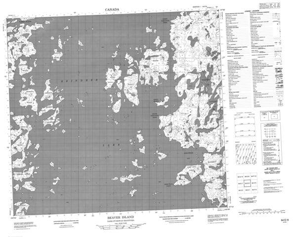 Beaver Island Topographic Paper Map 064E08 at 1:50,000 scale