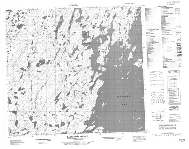 Patterson Island Topographic Paper Map 064E10 at 1:50,000 scale