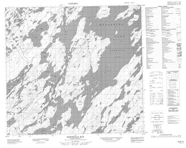Nekweaga Bay Topographic Paper Map 064E13 at 1:50,000 scale