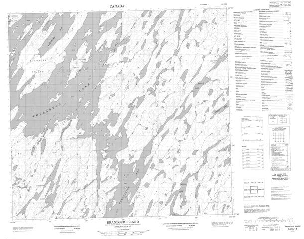 Brandser Island Topographic Paper Map 064E14 at 1:50,000 scale