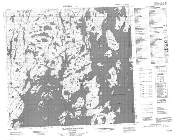 Feaviour Peninsula Topographic Paper Map 064E16 at 1:50,000 scale