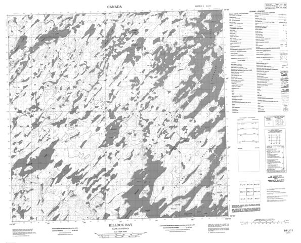 Killock Bay Topographic Paper Map 064L11 at 1:50,000 scale