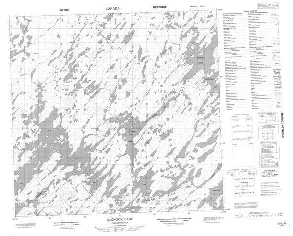 Bannock Lake Topographic Paper Map 064L15 at 1:50,000 scale