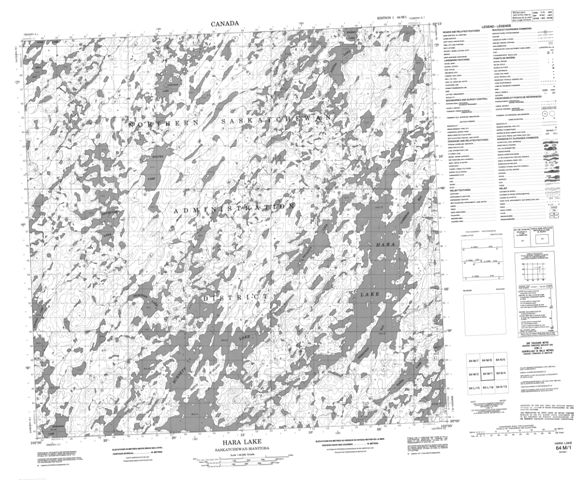 Hara Lake Topographic Paper Map 064M01 at 1:50,000 scale
