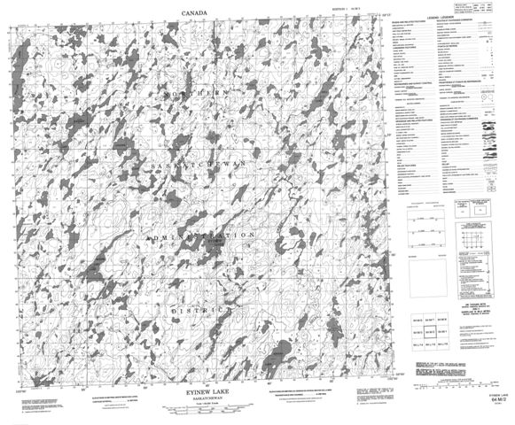Eyinew Lake Topographic Paper Map 064M02 at 1:50,000 scale