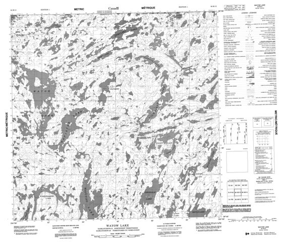Wayow Lake Topographic Paper Map 064M13 at 1:50,000 scale