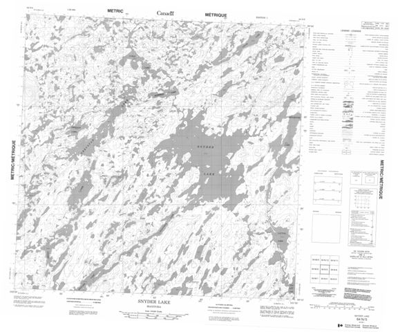 Snyder Lake Topographic Paper Map 064N05 at 1:50,000 scale