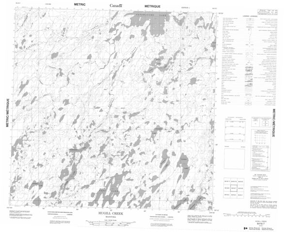 Hugill Creek Topographic Paper Map 064N07 at 1:50,000 scale