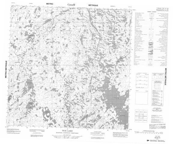 Tice Lake Topographic Paper Map 064N14 at 1:50,000 scale