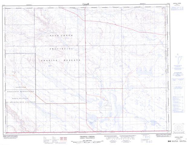 Cripple Creek Topographic Paper Map 072E01 at 1:50,000 scale