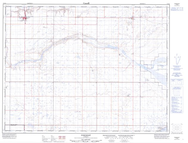 Foremost Topographic Paper Map 072E06 at 1:50,000 scale