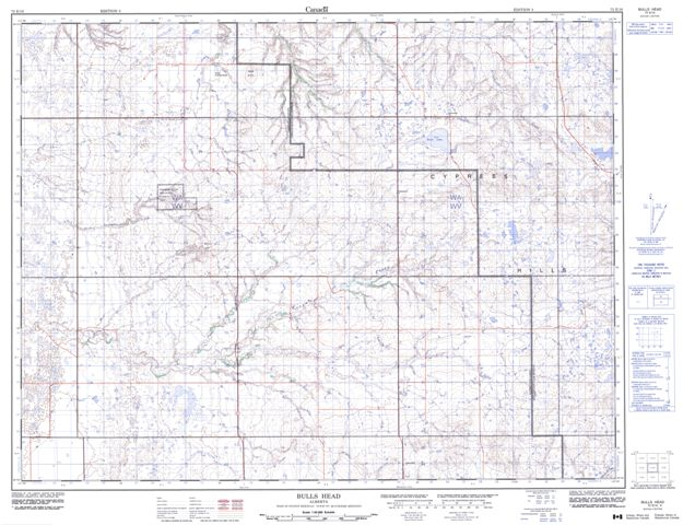 Bulls Head Topographic Paper Map 072E10 at 1:50,000 scale