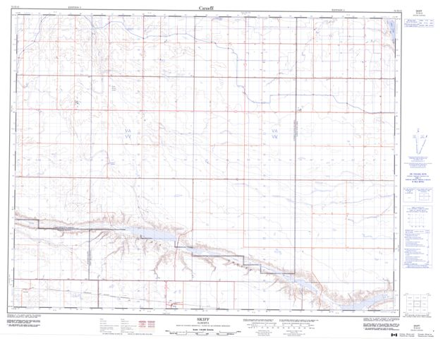 Skiff Topographic Paper Map 072E12 at 1:50,000 scale