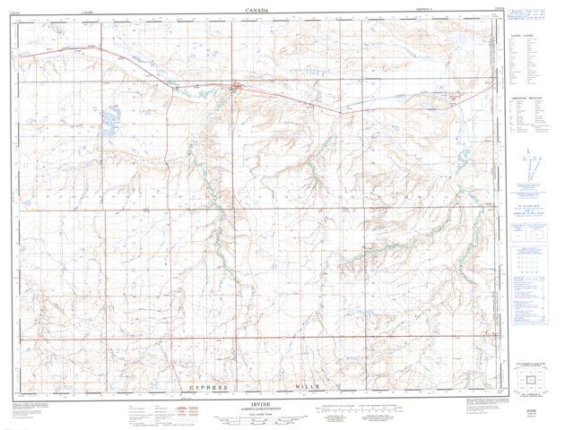 Irvine Topographic Paper Map 072E16 at 1:50,000 scale