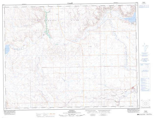 Consul Topographic Paper Map 072F05 at 1:50,000 scale