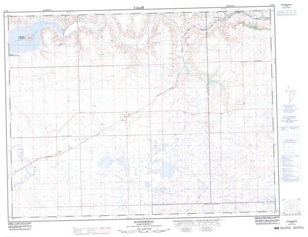 Ravenscrag Topographic Paper Map 072F06 at 1:50,000 scale