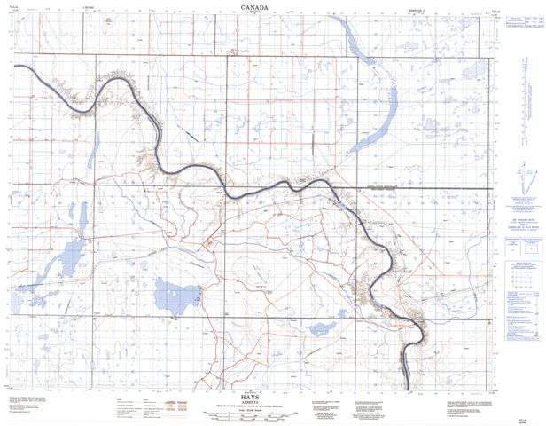 Hays Topographic Paper Map 072L04 at 1:50,000 scale
