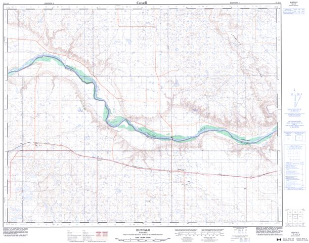 Buffalo Topographic Paper Map 072L15 at 1:50,000 scale
