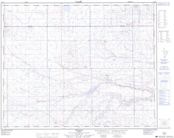 Sedalia Topographic Paper Map 072M10 at 1:50,000 scale