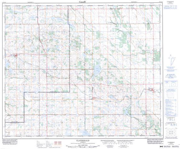 Clandonald Topographic Paper Map 073E10 at 1:50,000 scale
