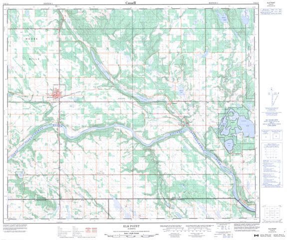 Elk Point Topographic Paper Map 073E15 at 1:50,000 scale