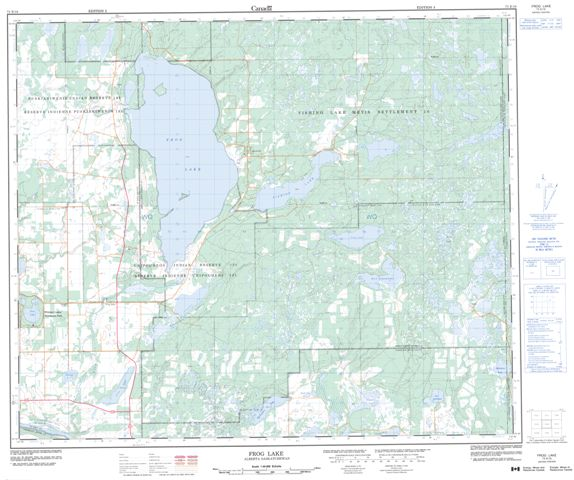 Frog Lake Topographic Paper Map 073E16 at 1:50,000 scale