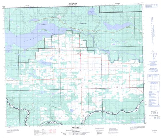 Goodsoil Topographic Paper Map 073K06 at 1:50,000 scale