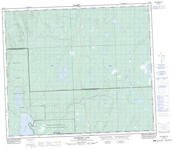 Waterhen Lake Topographic Paper Map 073K09 at 1:50,000 scale