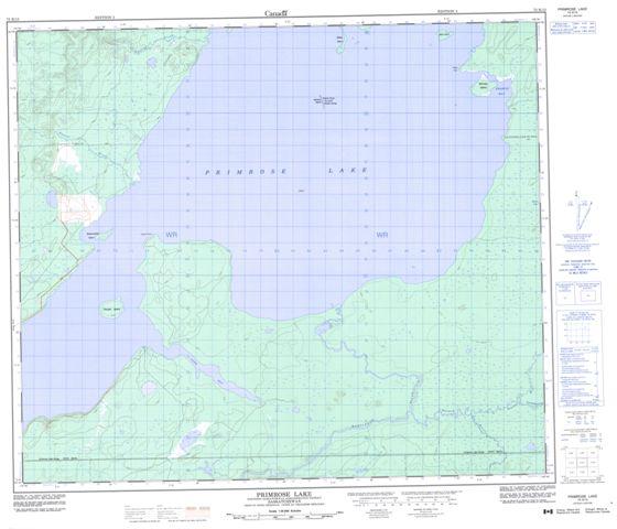 Primrose Lake Topographic Paper Map 073K13 at 1:50,000 scale