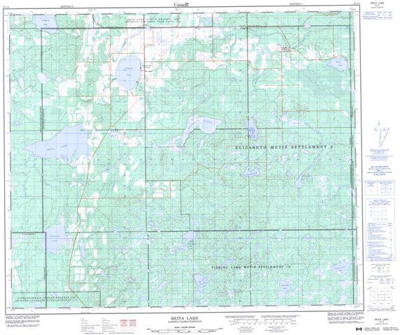 Reita Lake Topographic Paper Map 073L01 at 1:50,000 scale