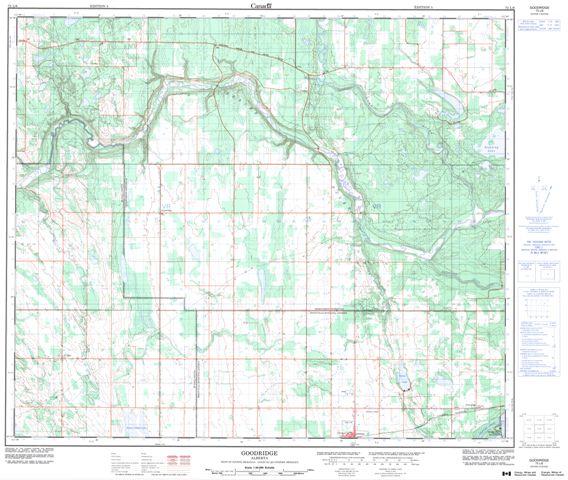 Goodridge Topographic Paper Map 073L06 at 1:50,000 scale