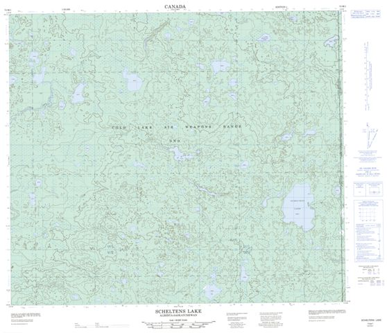 Scheltens Lake Topographic Paper Map 073M01 at 1:50,000 scale