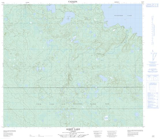 Kirby Lake Topographic Paper Map 073M07 at 1:50,000 scale
