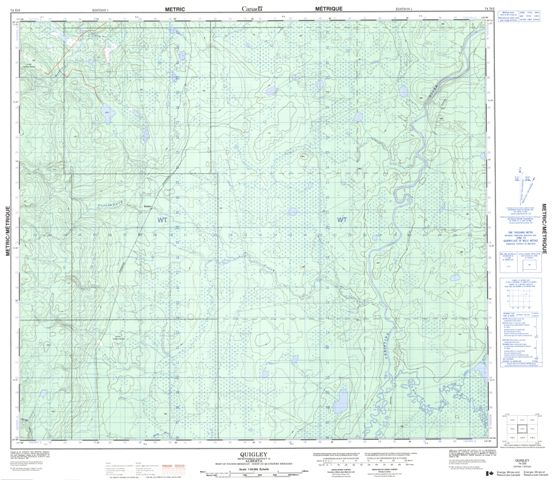 Quigley Topographic Paper Map 074D02 at 1:50,000 scale