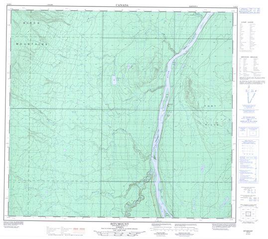 Bitumount Topographic Paper Map 074E05 at 1:50,000 scale