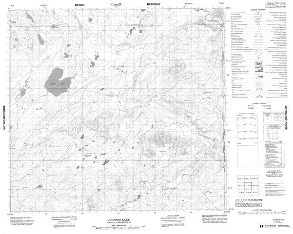 Johnson Lake Topographic Paper Map 074E09 at 1:50,000 scale