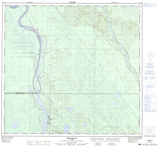 Embarras Topographic Paper Map 074L03 at 1:50,000 scale
