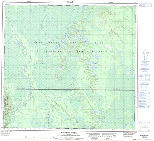 Buckton Creek Topographic Paper Map 074L04 at 1:50,000 scale