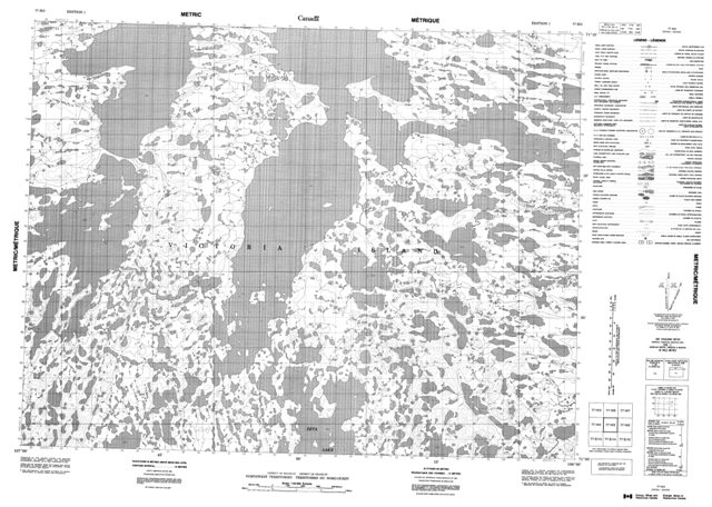 No Title Topographic map 077H03 at 1:50,000 Scale