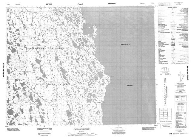 Cape Copenhagen Topographic map 077H09 at 1:50,000 Scale
