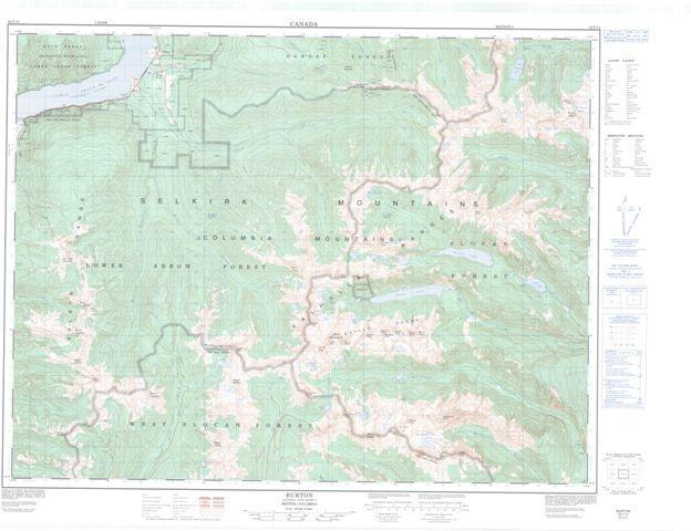 Burton Topographic map 082F13 at 1:50,000 Scale