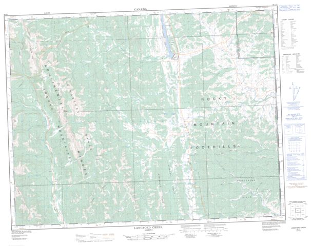 Langford Creek Topographic Paper Map 082J01 at 1:50,000 scale