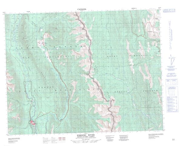 Fording River Topographic Paper Map 082J02 at 1:50,000 scale