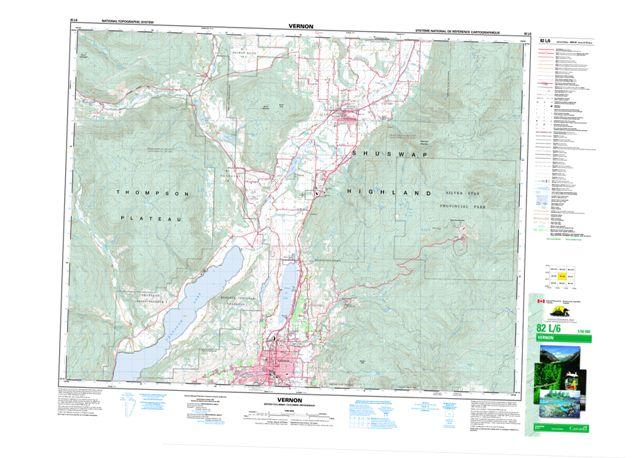 Vernon Topographic map 082L06 at 1:50,000 Scale