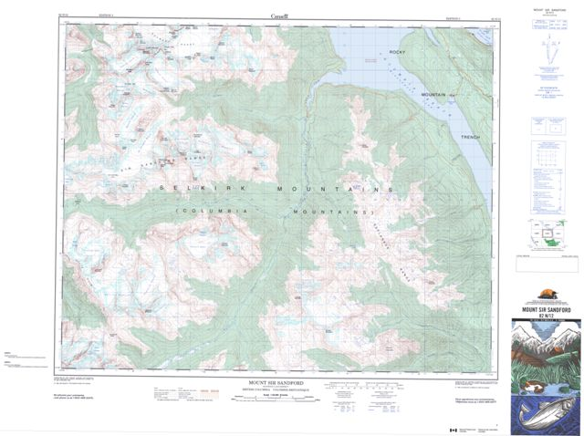 Mount Sir Sandford Topographic map 082N12 at 1:50,000 Scale