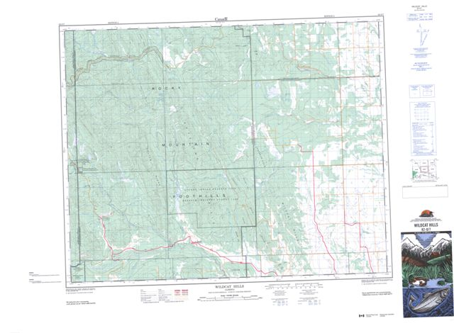 Wildcat Hills Topographic Paper Map 082O07 at 1:50,000 scale