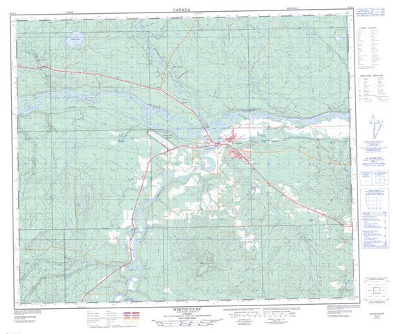 Whitecourt (AB) Canada  City pictures : Whitecourt Alberta Canada http://www.canmaps.com/topo/nts50/map/083j04 ...