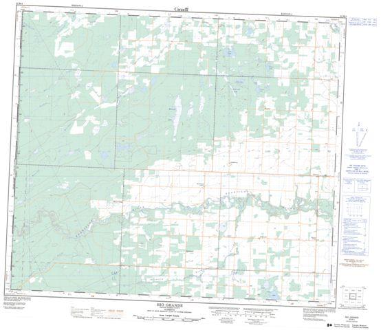 Rio Grande Topographic Paper Map 083M04 at 1:50,000 scale